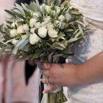 vjenčani buket maslinove grančice