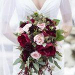 vjenčani buket bordo