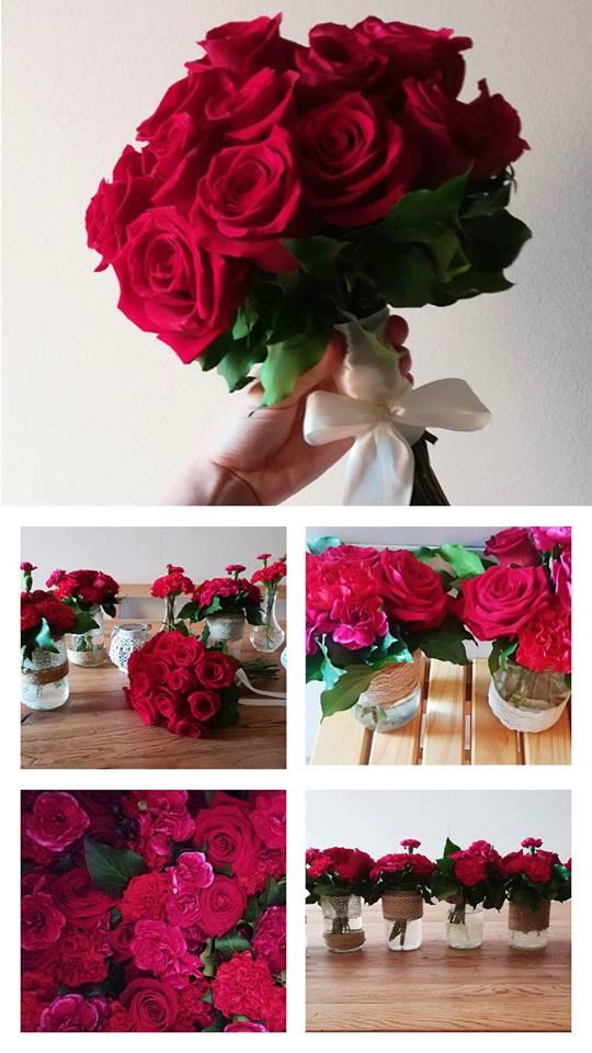 dekoracija za vjenčanje zagreb, crvene ruže