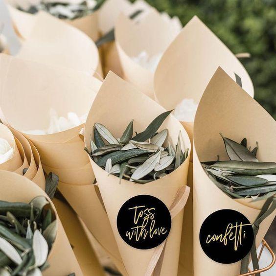prirodni konfeti vjenčanje
